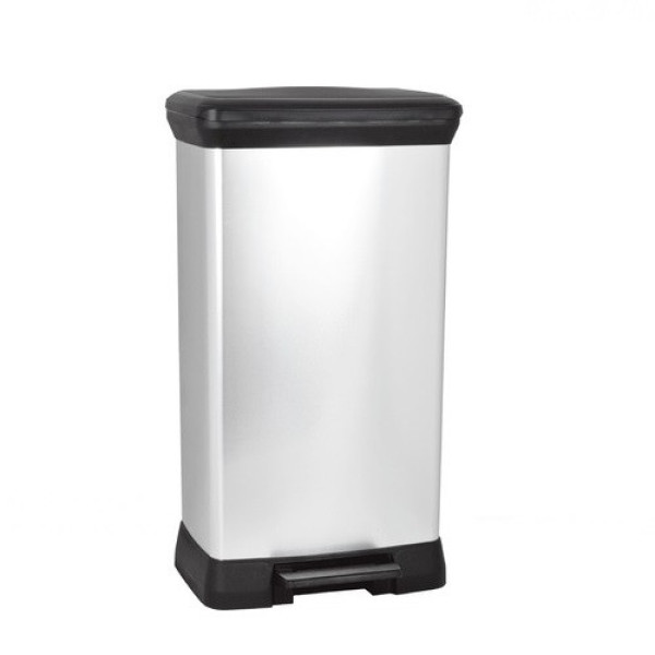 Curver Deco Bin Rectangle Metallic 50L