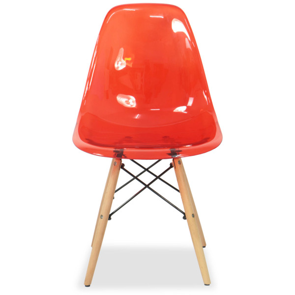 eames clear red replica designer chair furniture home
