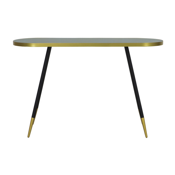 Silvia Console Table in Green Marble