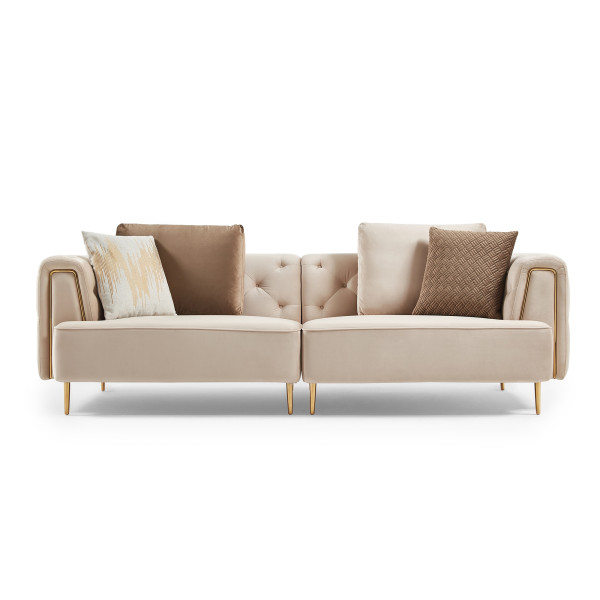 Sigrid 4 Seater Sofa (Light Brown)