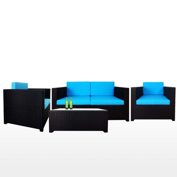 Fiesta Sofa Set II, Blue Cushion