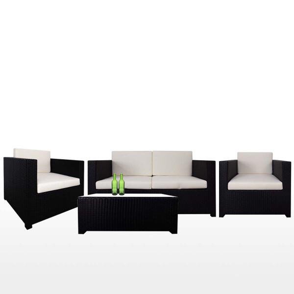 Fiesta Sofa Set II, White Cushion