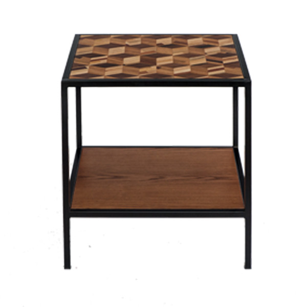 PHILOS - Brick Side Table with Shelf