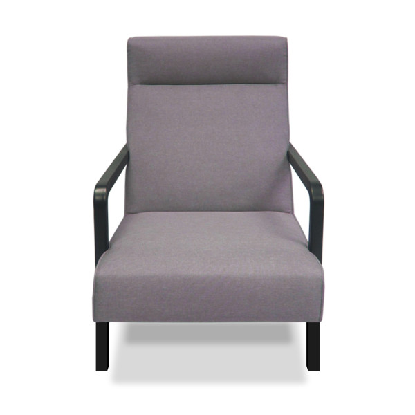 Swaff Armchair (Light grey/Purple)
