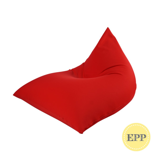 Tetzzz Spandex Lounger bean bag by SG Beans (Red, EPP beans filling)