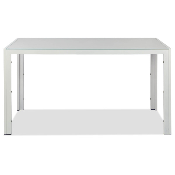 Trempe Dining Table White