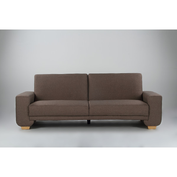 Cozy 3 Seater Sofa Bed (Brown)