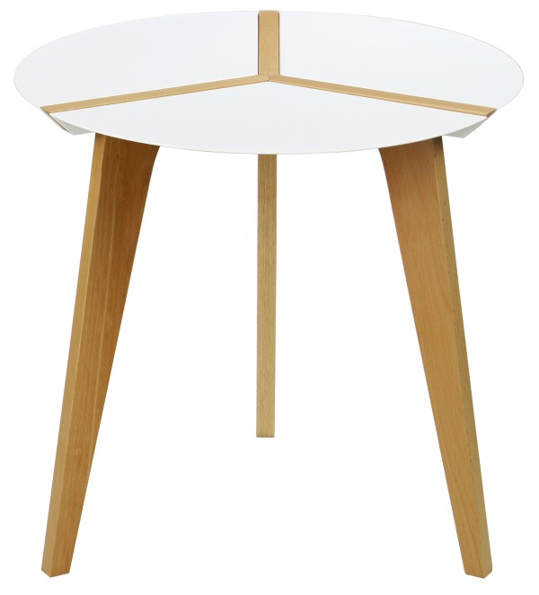 Amadeo Round Steel Top Table White