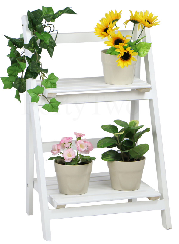 Edelweiss Foldable 2 Tier Flower Stand White