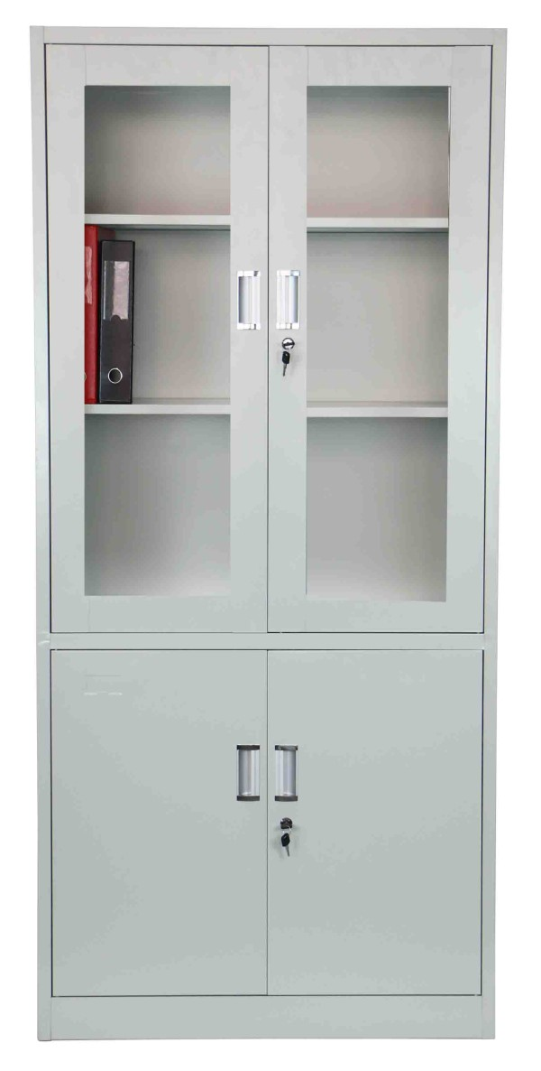 Helen High Steel Filing Cabinet Light Grey