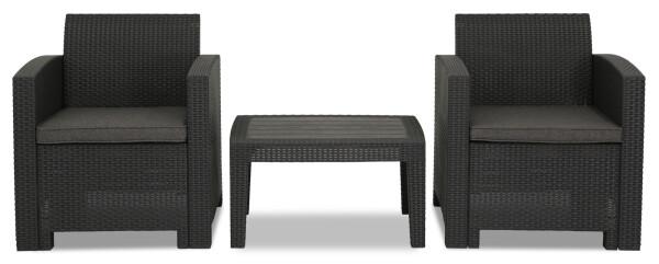 Nina 2 Seater Outdoor Sofa Set (Dark Grey)
