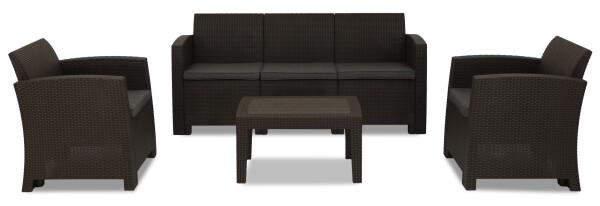 Nina 5 Seater Outdoor Sofa Set (Brown)