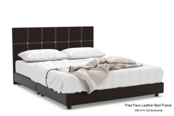 Fred Faux Leather Bed Frame