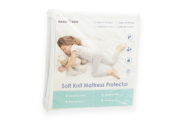 Magic Koil Soft Knit Fitted Mattress Protector