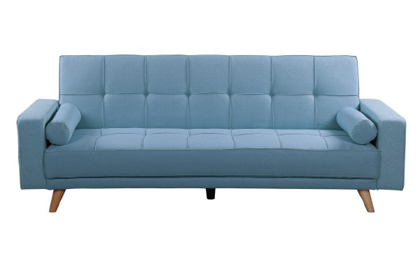 Cozy 3 Seater Sofa Bed - Light Blue