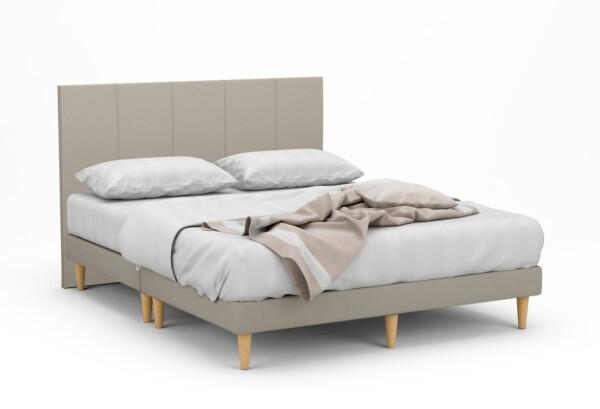 Dane II Fabric Bed Frame With Tall Beech Legs