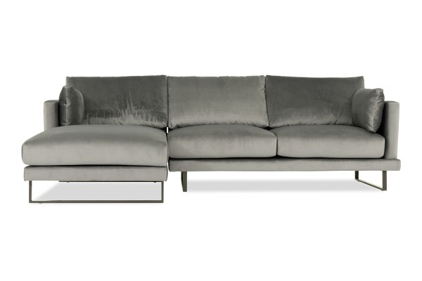 Bernicia 3 Seater L Shape-Rest Section on RIGHT Side when Seated (Flannel)