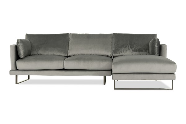 Bernicia 3 Seater L Shape-Rest Section on LEFT Side when Seated (Flannel)