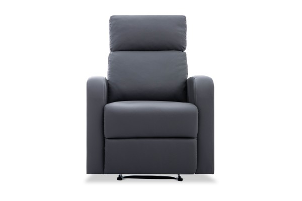 Cadiz 1 Seater Recliner Dark Grey PU