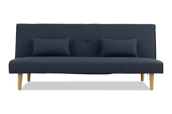 Lacel Sofa Bed with Cushions (Dark Blue)