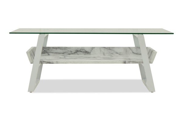 Sussi Tempered Glass Coffee Table (Marble)
