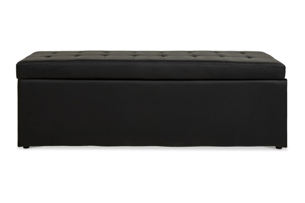 Carissa Storage Bench PVC Black (Long)