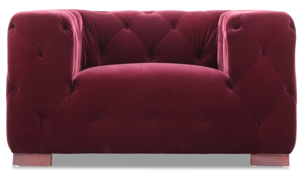 Anuli 1 Seater in Velvet Red