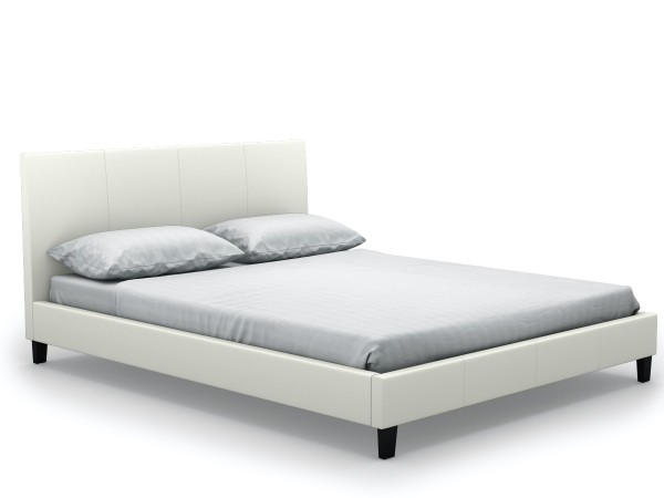 Haagen Queen-Sized Bed (PU White)