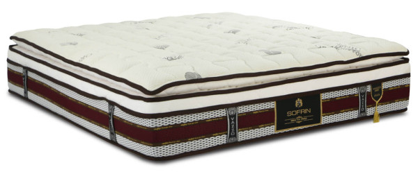Vazzo Sofrin 5 Zone Pocketed Spring Mattress With Memory Foam Pillow Top