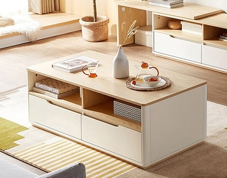 Vilma Coffee Table (Off-White/Birch)