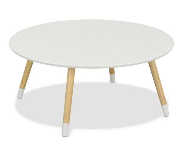 Round Coffee Table With Storage Singapore: Muro White Round Table