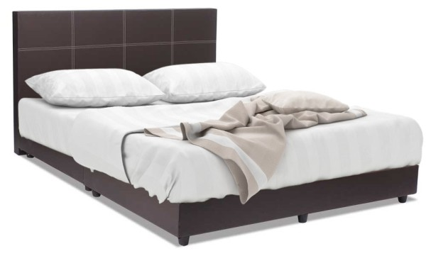 Ashley Bed Frame Dark Brown + Super Foam Mattress Package ( Queen )