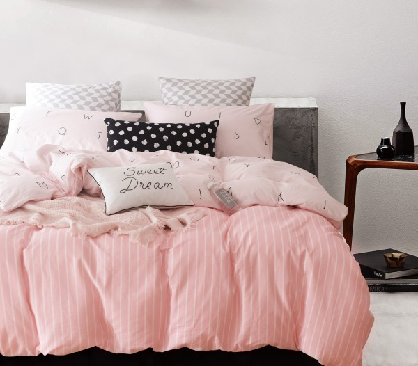 Bedding Day 100% Cotton Sateen 800TC Fitted Sheet Set - Candy