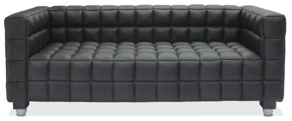 Berdina Verve 3 Seater PU Leather Sofa (Black)