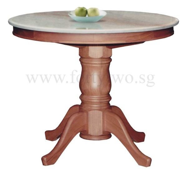 Lenora Round Marble Dining Table