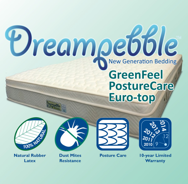 Dreampebble GreenFeel Posture Care Spring Euro-Top Mattress