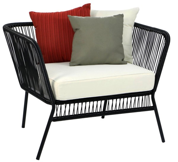 Black Spinel Patio Armchair