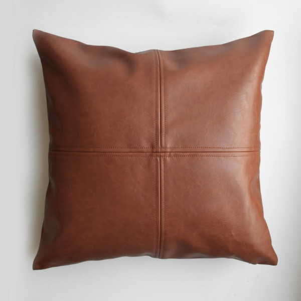 Tessa PU Cushion (Brown)