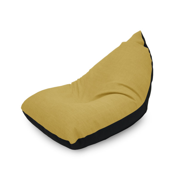 Doodle Triangle Bean bag - Yellow