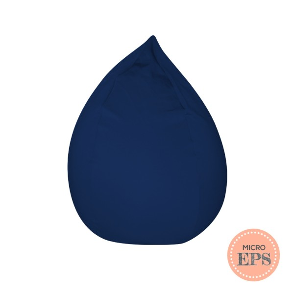 Dropzzz spandex bean bag (Navy, Micro EPS beans filling) by SG Beans