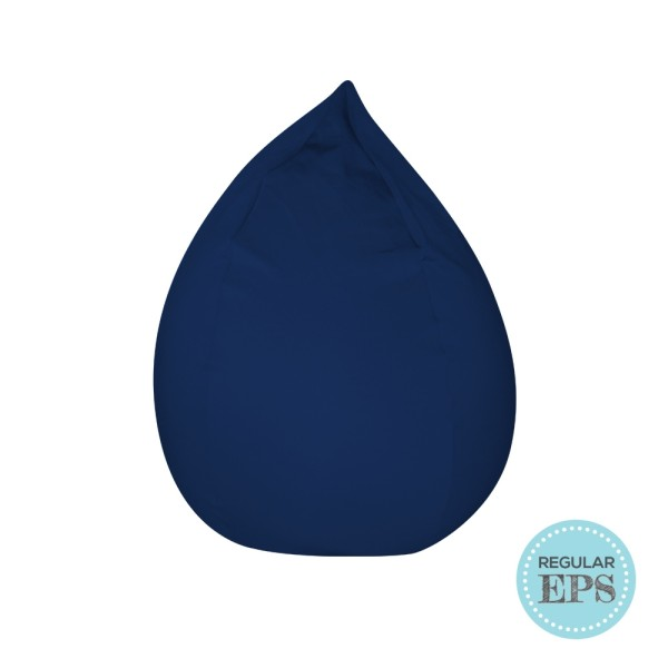 Dropzzz spandex bean bag (Navy, Regular EPS beans filling) by SG Beans