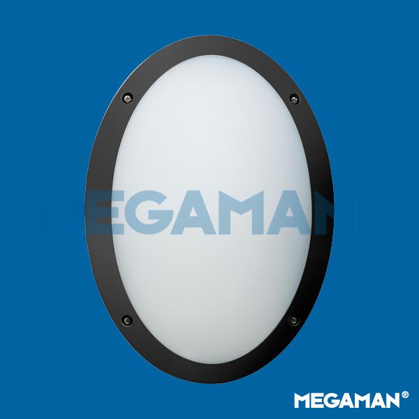 Megaman FONDA 10.5w (Black) Oval Outdoor Bulkhead