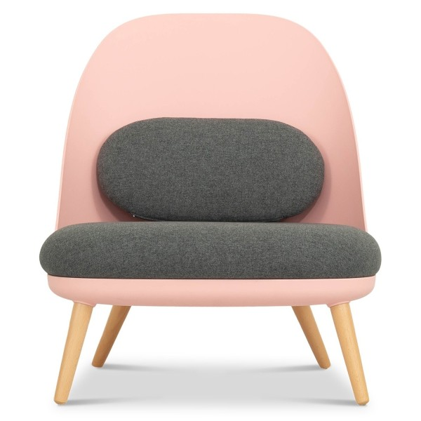 Aldora Chair in Pink and Charcoal