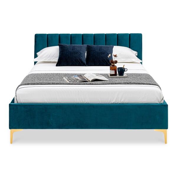 Kylan Upholstered King Bed (Dark Green)