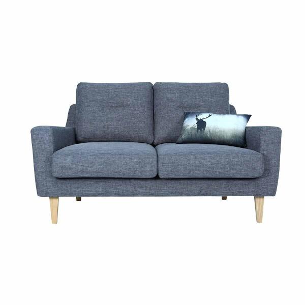 Malibu 2 Seater Sofa with Oak Leg, Seal
