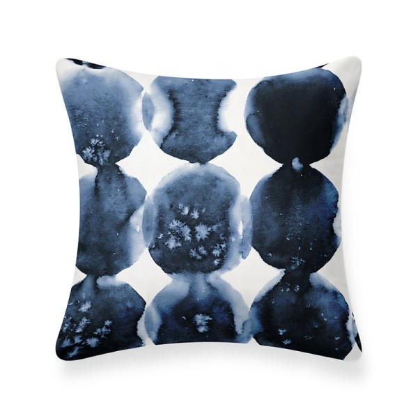 Erle Cushion (White/Blue)