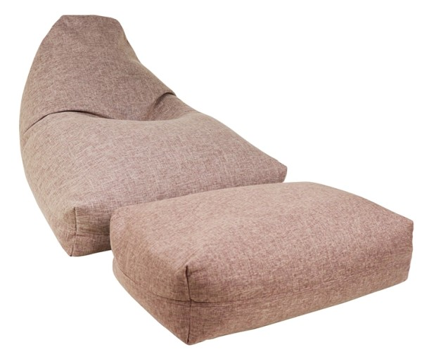 Moby Bean Bag with Ottoman in Brown