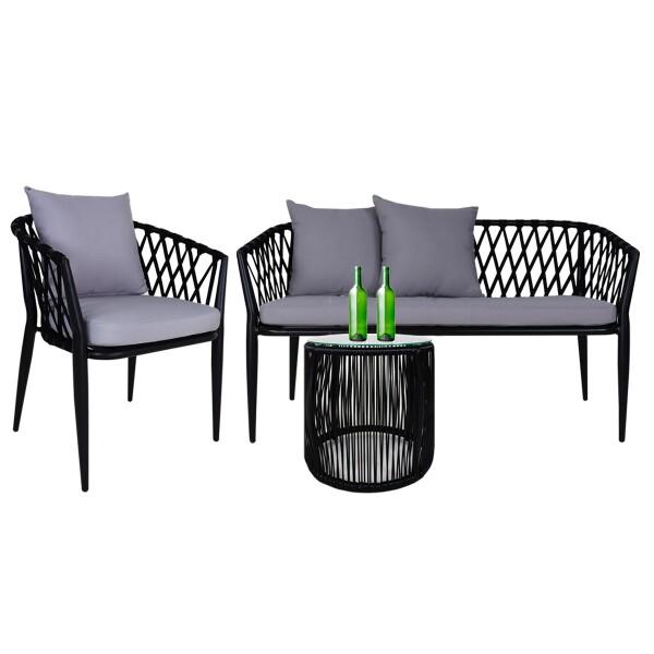 Orgo Sofa 2 + 1 Seater Set, Grey Cushions