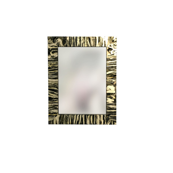 Buffalo Horn Design Rectangle Mirror