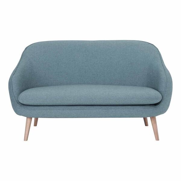 Prius 2 Seater Sofa Oak Leg in Blue